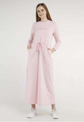 ULTRAVIOLET pink Taeri Maxi Dress 538 A12B2AAC87E49CGS_1