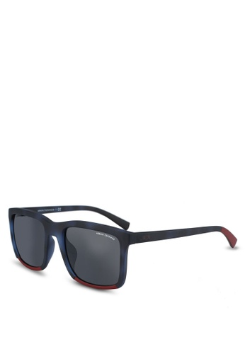 Armani Exchange blue Armani AX4067SF Sunglasses 1CC42GL8B8D838GS_1