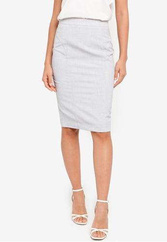 FORCAST grey Mai Suit Skirt 1A108AAA47BC00GS_1