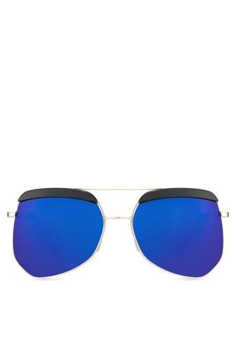 飛行員反zalora 折扣碼光太陽眼鏡, 飾品配件, 飛行員框