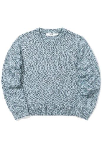 b+ab blue Intarsia knit sweater C4925AAC1E71FEGS_1