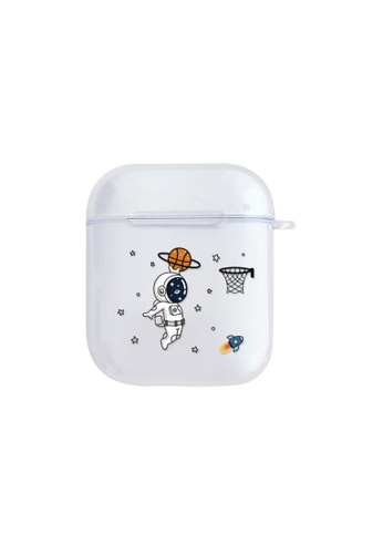Kings Collection white Slam Dunk Astronaut AirPods Case (KCAC2147) 4C2D8AC5BC7676GS_1