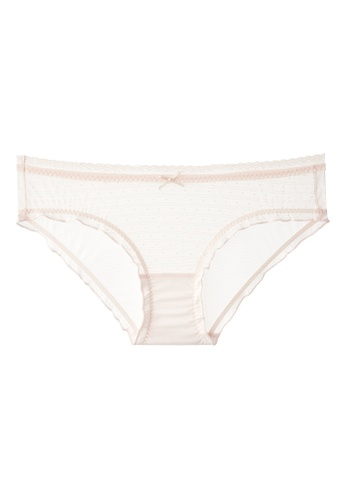6IXTY8IGHT pink CARLINA SOLID, Dot Striped Mesh Hipster Panty PT09928 6ED38USA36CDCBGS_1