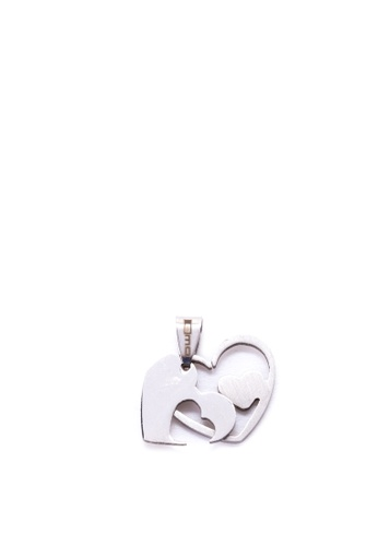 Shop Emo Stainless Steel My Heart Breaks For You Pendant Online On