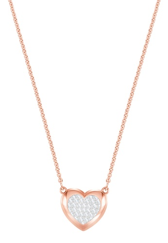 Swarovski gold Hall Heart Pendant Necklace A4487ACD233AFCGS_1