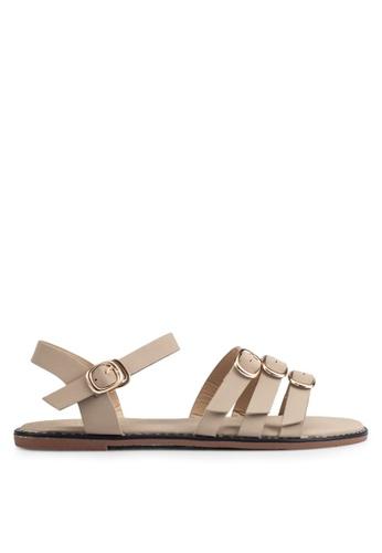 Mimosa beige Strappy Sandals MI065SH0RSSBMY_1