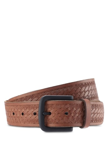 Hollister brown Braided Leather Belt HO422AC99IMIMY_1