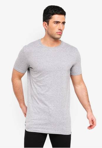 Factorie 灰色 Longline T Shirt 2732CAA24AD430GS_1