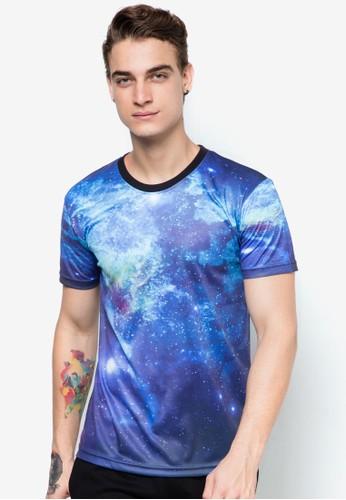 宇宙銀河圖圓領TEE, 服esprit分店飾, T恤