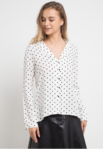 MANGO white and multi Buttoned Flowy Shirt D88E5AA8A40304GS_1