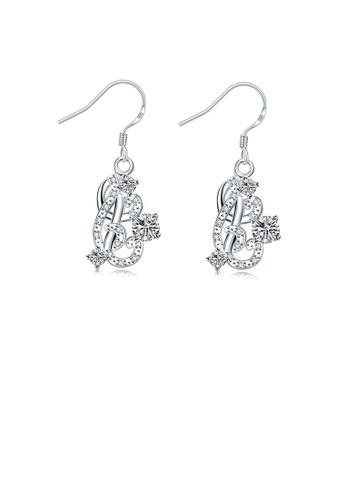 Glamorousky white Fashion Elegant Geometric Earrings with Austrian Element Crystal AB822AC8FCBC2FGS_1
