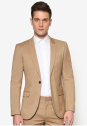 Topman beige Camel Skinny Fit Suit Jacket TO413AA08NEHMY_1