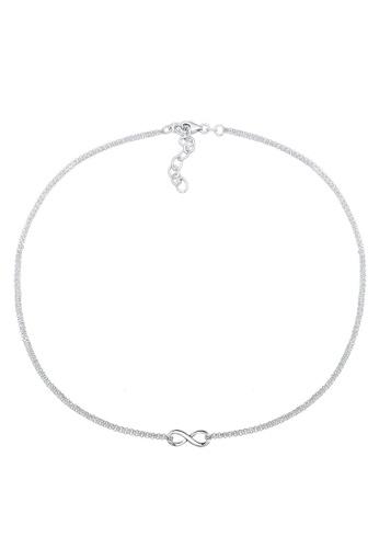 Elli Women's 925 Sterling Silver Infinity Basic Love Choker Necklace D8jZkkr
