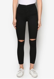 TOPSHOP black Moto Black Ripped Joni Jeans TO412AA14MARMY_1
