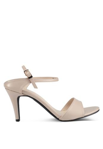Bata 米褐色 質感拼接高跟鞋 AEA66SH624CAEEGS_1