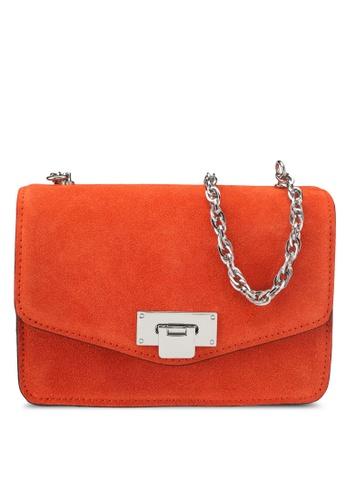 Mango orange Chain Leather Bag 74ECAACBDBB7FAGS_1