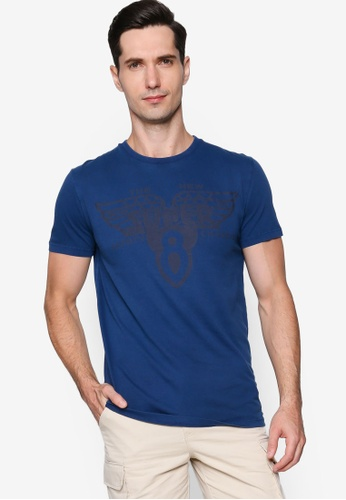 SUPERDRY blue Dry Goods Tee 37B64AAD39E2E7GS_1