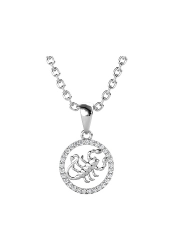 Her Jewellery 白色 Her Jewellery Circlet Scorpio Pendant with Necklace (White Gold) embellished with Crystals from Swarovski镶嵌施华洛世奇水晶 E9F1BAC6B776A6GS_1
