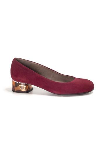 Shu Talk red WONDERS Suede Leather Crystal Blocked Heels B1F87SHD816A48GS_1