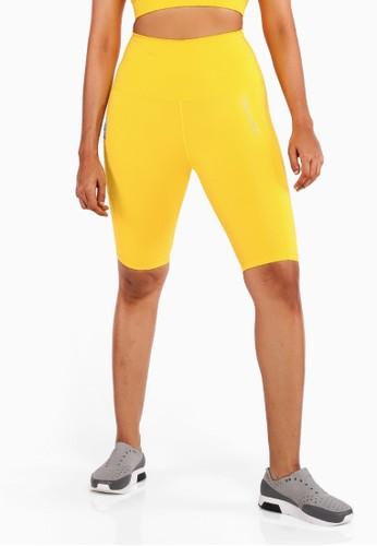 Hallah yellow Gazelle Biker Shorts 32AD4AA12BAF97GS_1