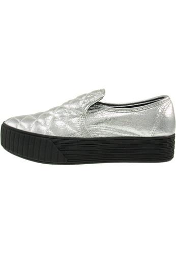 Maxstar 銀色 新款韩国鞋C30-Stitch-TC時尚皮革布混合女銀色 US Women Size MA345SH90HFDTW_1