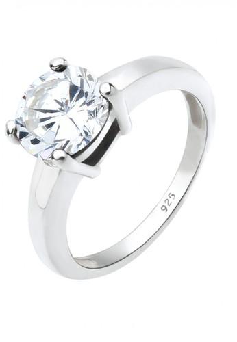 Elli Germany white Perhiasan Wanita Perak Asli - Silver Cincin Classic Zirconia D7359AC6C907EFGS_1