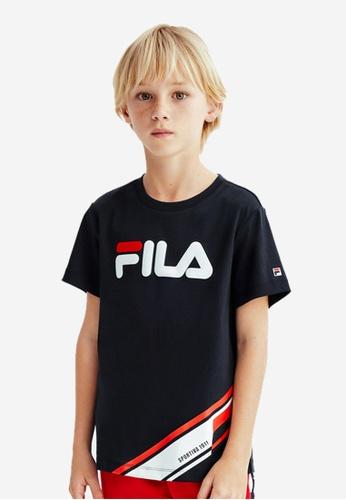 FILA navy FILA KIDS FILA Logo Cotton T-shirt 8-15yrs 020E6KA0C6760EGS_1
