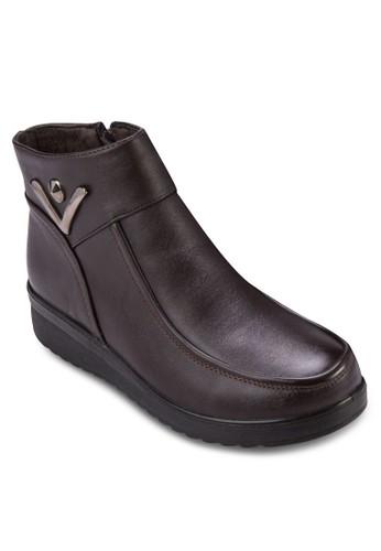 厚esprit tote bag底低筒靴, 女鞋, 靴子