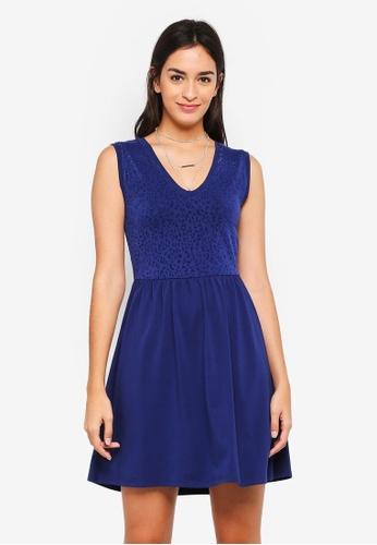 ONLY blue Leo Mini Dress C785CAA61DFD21GS_1