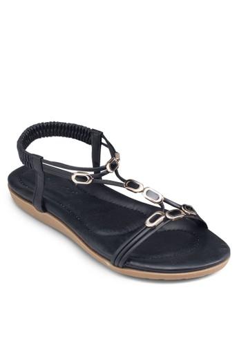 Tesprit taiwan字閃飾涼鞋, 女鞋, 鞋