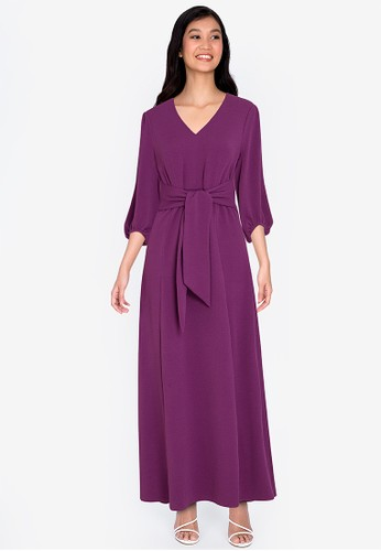 ZALORA BASICS purple Boohoo Maxi Dress 544C8AA34C0089GS_1