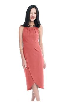 888c98dd72eaa5 Mint   Ooak orange Heidi Cross-Over Dress in Salmon 0334FAA09E1272GS 1