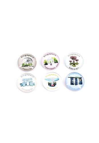 Klosh Magnets (Pack of 6)  - Singapore Landmark Crystal Magnet Singapore Memories 94E98HL8D156DBGS_1