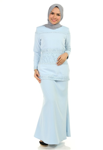 Puspawangi Kurung With Multiple Lace from Ashura in Blue