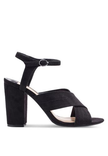 Dorothy Perkins black Black Spring Cross Over Heeled Sandals DO816SH30AYZMY_1