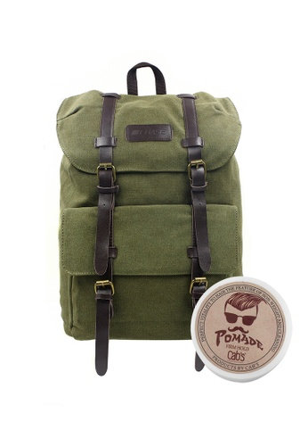 Chase Fashion green Francis Canvas Backpack with Pomade CH547AC51FTGPH_1