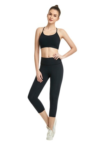 B-Code black ZWG7013Lady Quick Drying Running Fitness Yoga Sports Leggings -Black 1F1E1AAE23C9D4GS_1