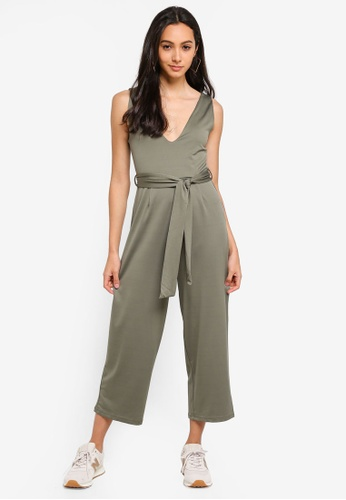 Supre green Deep V Neck Jumpsuit 8CC36AA6A96CD0GS_1