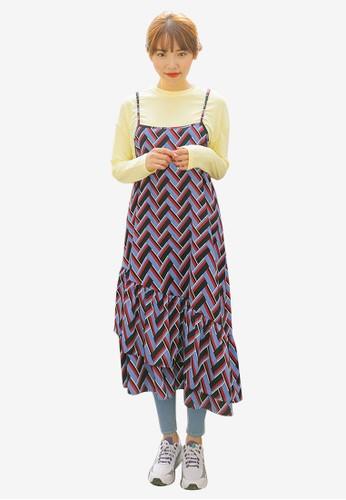 印花esprit旗艦店吊帶連身裙, 服飾, 洋裝
