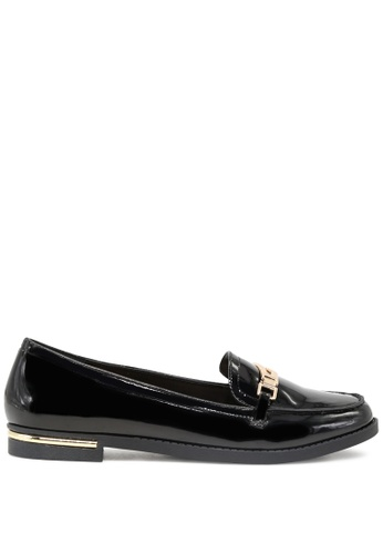 London Rag black Black Patent Loafers with Gold trims SH1697 05DA1SH9010C7AGS_1