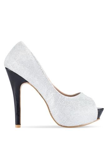 Alfio Raldo silver Peep Toe Heels AL803SH0R9PZMY_1