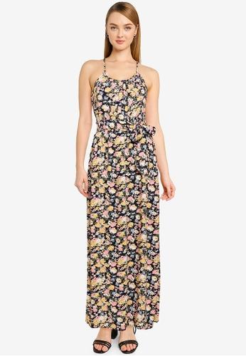 Vero Moda navy Simply Easy Slit Maxi Dress 9BF04AAE26F3C0GS_1