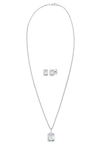 fbd405b6e8eef Elli Germany Jewelry Set Geo Swarovski Crystal 925 Sterling Silver