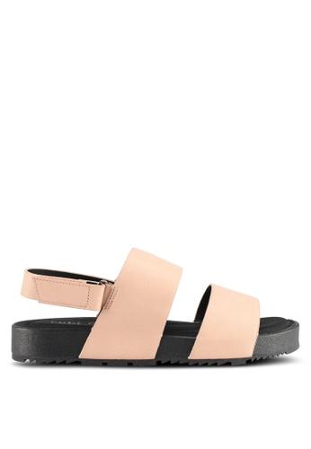 Rubi brown Olivia Double Strap Slingback Sandals E29E7SHC66AED5GS_1
