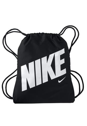 Nike black and grey Graphic Gym Sack 5FB21KC348EE15GS_1