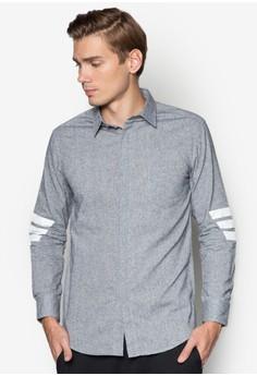 XM-Diagonal Stripe Long Sleeve Shirt