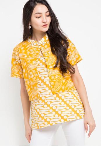Le Viel Batik yellow and multi Amora Blouse 2 Pcs 5F2E1AA5B5E473GS_1
