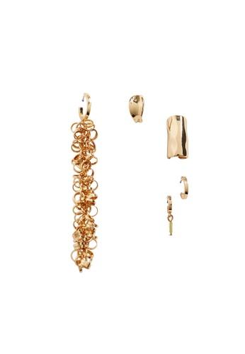 Mango gold Mixed Earring Set C29CFAC0F53423GS_1