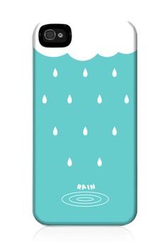 Rain Cloud Matte Hard Case for iPhone 4,4s