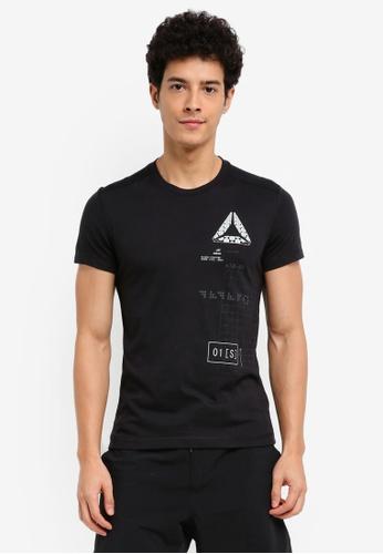 Reebok black Speedwick Graphic Tee RE691AA0SW1WMY_1